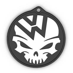 STL file Skull VW Logo, RapidPrint
