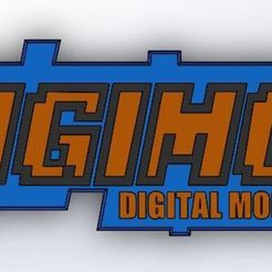 STL files Digimon Logo, RapidPrint