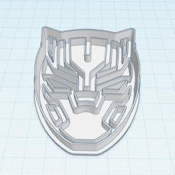 black panther.png Download STL file black panther cookie cutter • 3D printer object, Banks3D