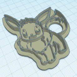 Download 3D printing designs eeve pokemon cookie cutter, iamdamien1989