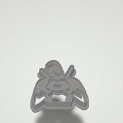 Untitled.jpg Download STL file Deadpool cookie cutter • Design to 3D print, Banks3D