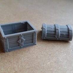 Free 3D printer files Chest with Lid Apart, Kimskell