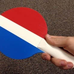 photo_1_display_large.jpg Download free STL file Ping Pong Paddle • 3D printing template, sportguy3Dprint