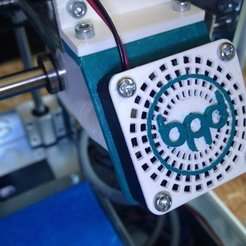 Free STL Arduino Materia 101 - Fan Guard With Logo, sportguy3Dprint