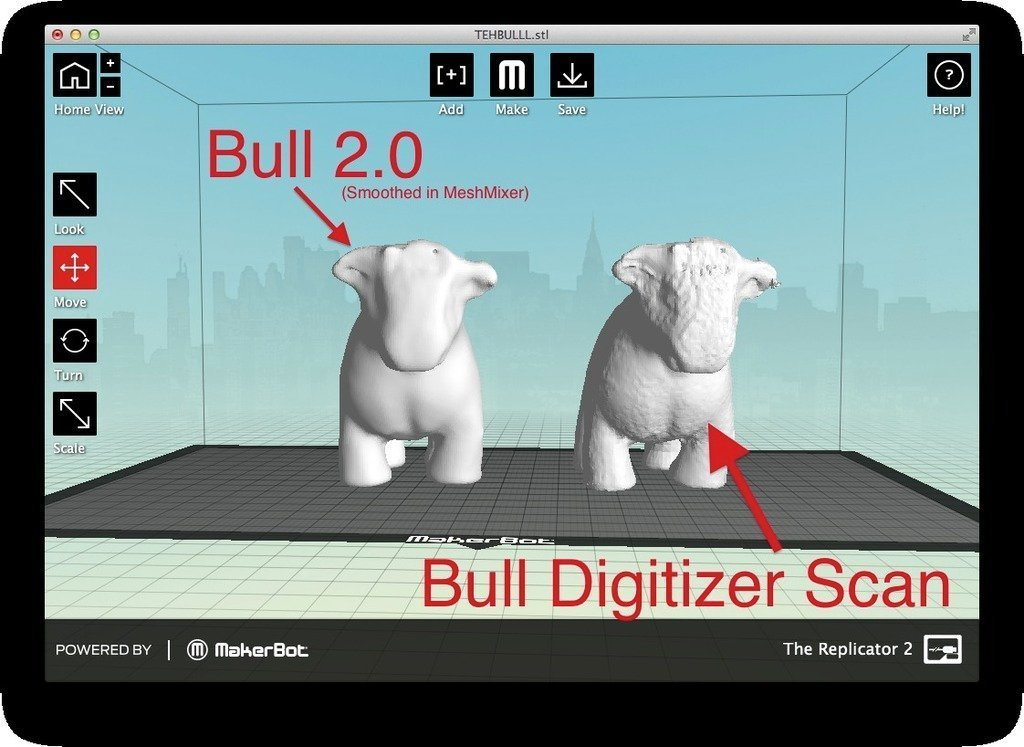 Side_by_side_display_large.jpg Download free STL file Mad Money Bull • 3D printing object, sportguy3Dprint
