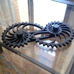 Download free 3D printing models Nautilus Gears - One-sided bar with caps, sportguy3Dprint