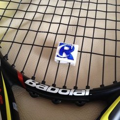 Free 3D printer designs Tennis String Vibration Dampener with your LOGO!, sportguy3Dprint