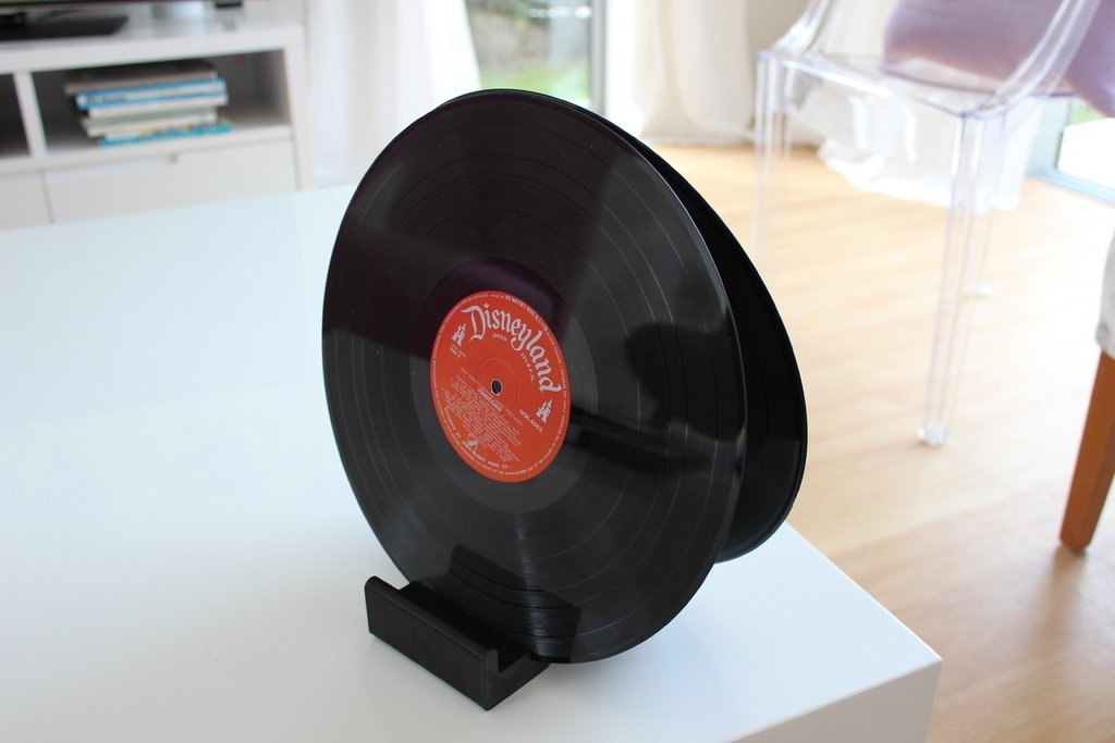 IMG_0450_display_large.JPG Download free STL file Ghostly Vinyl LP CD record stand • Model to 3D print, sportguy3Dprint