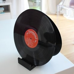 Free 3D model Ghostly Vinyl LP CD record stand, sportguy3Dprint