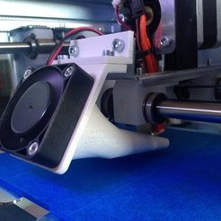 Download free 3D printer designs Fan Duct for Arduino Materia 101, sportguy3Dprint