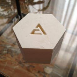Download free 3D printer templates Parametric Polygonal Lidded Box With Logo, sportguy3Dprint