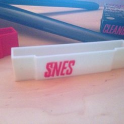 Free 3D model SNES Cartridge Dust Covers, Linshell3Dgirl