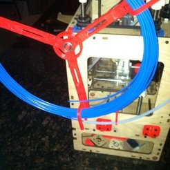 Free 3D printer designs Parametric Filament Spool Mk2, Linshell3Dgirl