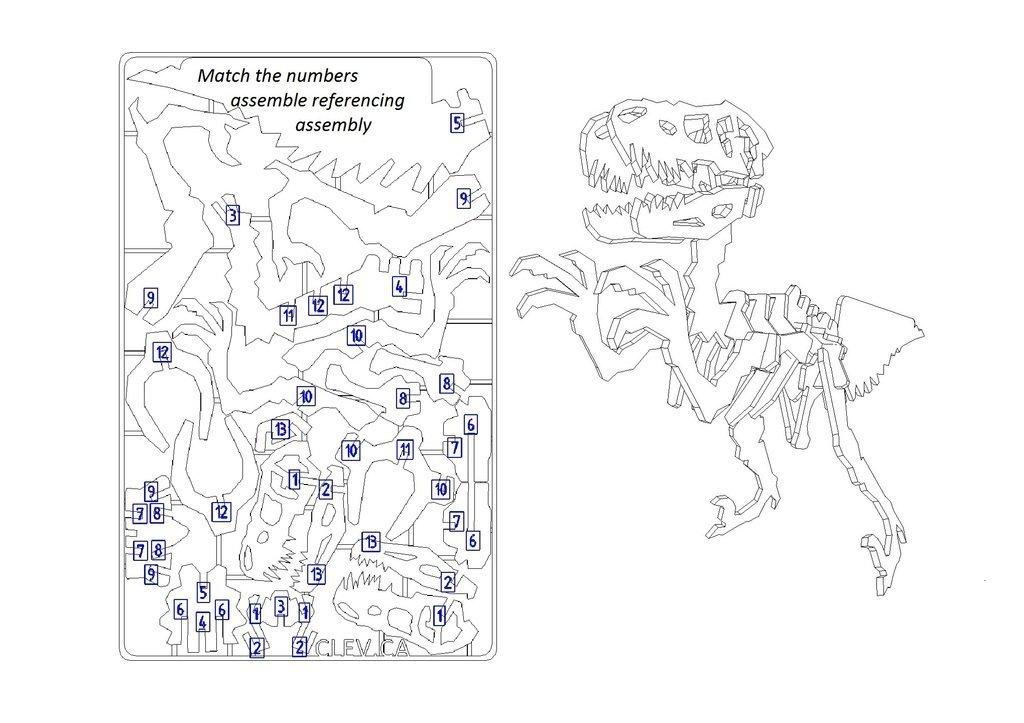instructions_display_large.jpg Télécharger fichier STL gratuit Carte de visite Velociraptor • Design imprimable en 3D, Mathorethan