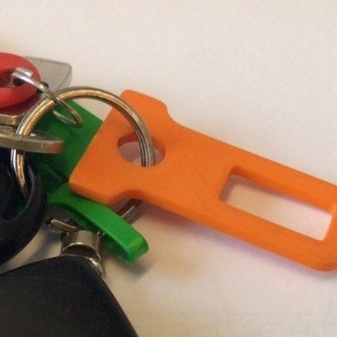 Free 3D printer model Buckle Plug Keychain, Mathorethan