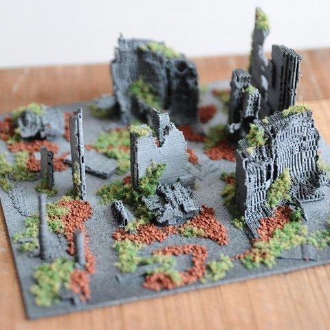 Download free 3D printer model T-800 skull support ruin city, Mathorethan