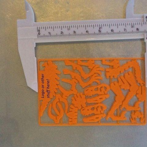 cardsize_display_large.jpg Télécharger fichier STL gratuit Carte de visite Velociraptor • Design imprimable en 3D, Mathorethan
