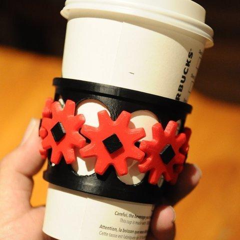 Download free 3D printing templates Geared coffee sleeeeve, Mathorethan