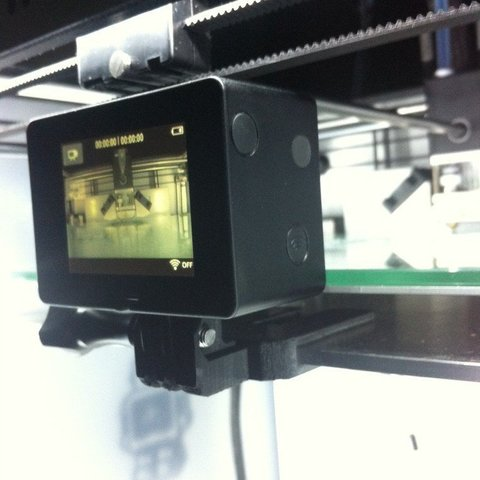 Download free 3D printer model GoPro Print Bed Mount, Mathorethan