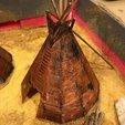 Download free 3D printer designs Tipi for Native American Diorama, Mathorethan