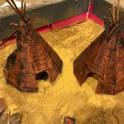 Free STL Tipi for Native American Diorama, Mathorethan