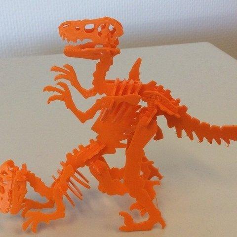 photo_display_large.jpg Télécharger fichier STL gratuit Carte de visite Velociraptor • Design imprimable en 3D, Mathorethan