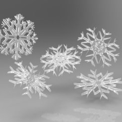 Download free 3D printing designs Various SnowFlakes Designs, ernestwallon3D