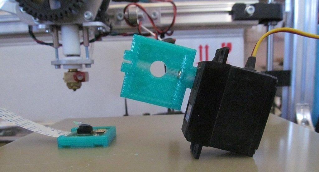 IMG_1954_display_large.jpg Download free STL file Raspberry Pi Camera Case with Servo Mount • 3D printable object, ernestwallon3D