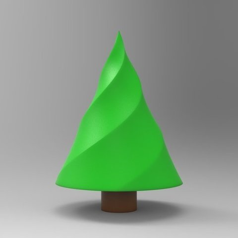 Free 3D printer model Twisted Christmas Tree, ernestwallon3D