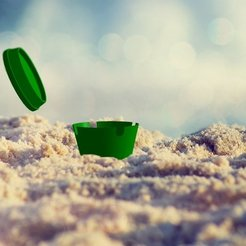 Free 3D print files Beach Ashtray + Cap, ernestwallon3D