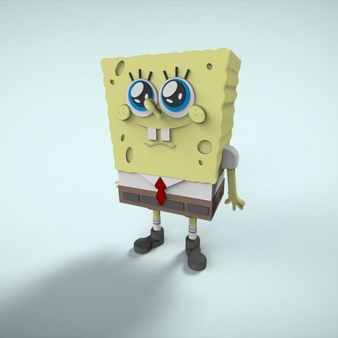 Download free 3D printing models The famous sponge., ernestwallon3D