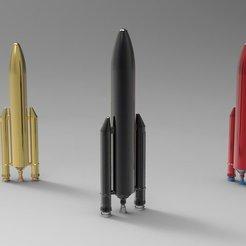 Free STL file Ariane 5 Rocket, ernestwallon3D