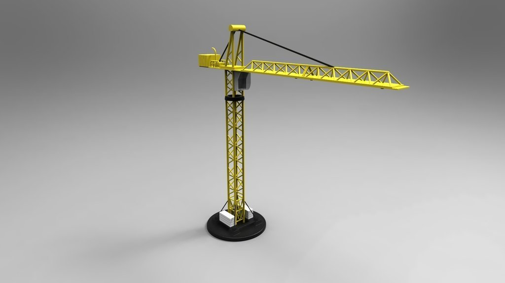 crane_display_large.jpg Télécharger fichier STL gratuit Grue multi-pièces • Plan imprimable en 3D, ernestwallon3D