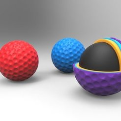 Free STL file Golf Ball - Full & Sliced, ernestwallon3D