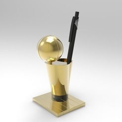 nba_display_large.jpg Download free STL file NBA Trophy Pen Holder • 3D printable design, ernestwallon3D