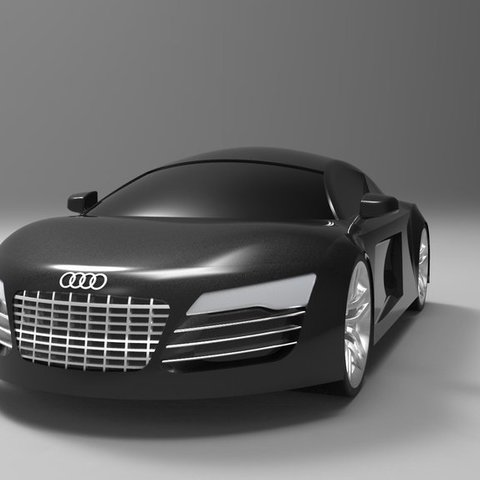 Download free STL Audi R8 Model  v1, ernestwallon3D