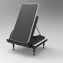 PianoHold_display_large.jpg Download free STL file Grand Piano - Phone Dock • Object to 3D print, ernestwallon3D