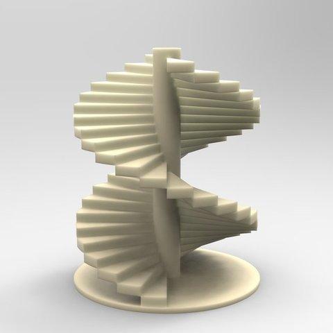 stairs_display_large.jpg Télécharger fichier STL gratuit Escalier Léonard de Vinci • Design imprimable en 3D, ernestwallon3D