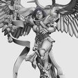 Download free 3D printing designs Undying Saint with wings, jimsbeanz