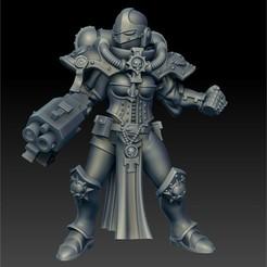 Impresiones 3D gratis monja de batalla con granada y cañón de tormenta, jimsbeanz