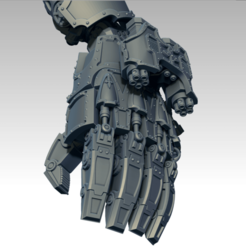 ZBrush_5.png Download free STL file Power Fist for a machine god • Template to 3D print, jimsbeanz