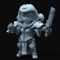 chibisister3.294.png Download free STL file The cutest chibi battle nun • 3D print design, jimsbeanz