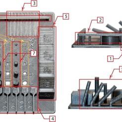 Zusammenfassung_1.jpg Télécharger fichier STL gratuit Objet d'essai avec des éléments de la norme DIN EN ISO / ASTM 52902 • Modèle pour impression 3D, Markus_WING