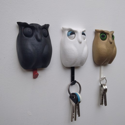 IMG_20201003_141912.jpg Download STL file Owl - Wall Key Holder • 3D printing model, sparki0007