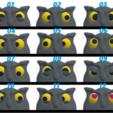 eyes.png Download free STL file Just eyes for Owl - wall key holder • 3D printer model, sparki0007