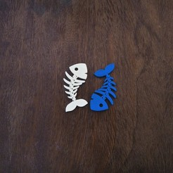 Download STL file CUTE FLEXI PRINT-IN-PLACE FISH - keychain • 3D printable model, sparki0007