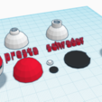 Download free STL Low Poly Poké Ball (モンスターボール Monster Ball) Bike valve cap [Presta and Schrader valves], utopiamachines