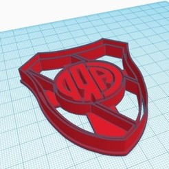 Download 3D printer templates COOKIE CUTTER RIVER PLATE, nicografic27