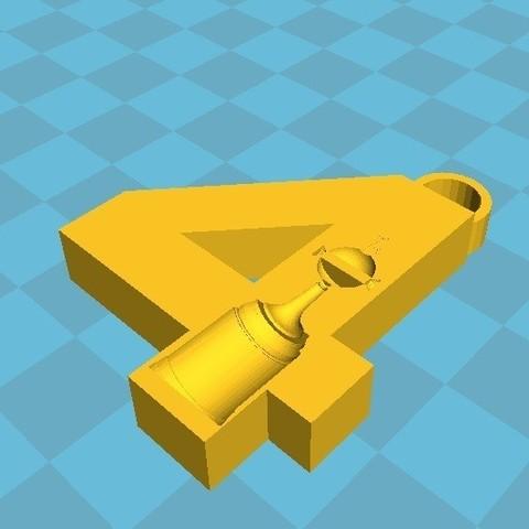 3D print files key ring RIVER PLATE 4 COPA, nicografic27