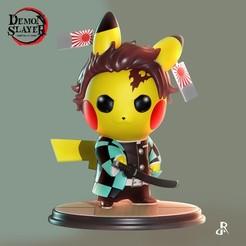 Descargar STL Tanjirou Pikachu, Daniel_Rodas